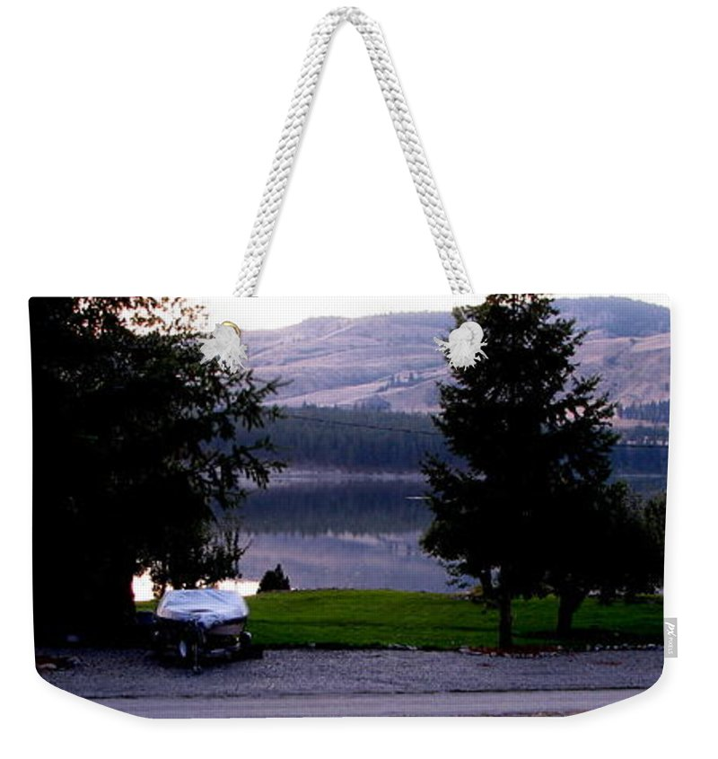Art For The Wall...patzer Photography Weekender Tote Bag featuring the photograph View To Columbia by Greg Patzer