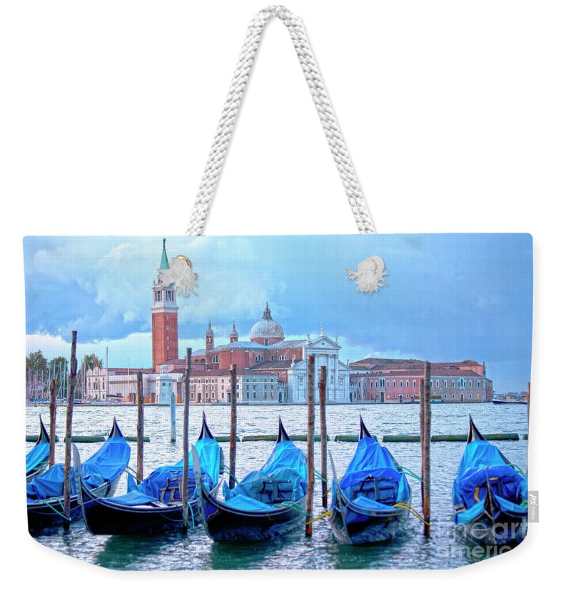 Venice Weekender Tote Bag featuring the photograph View To San Giorgio Maggiore by Heiko Koehrer-Wagner