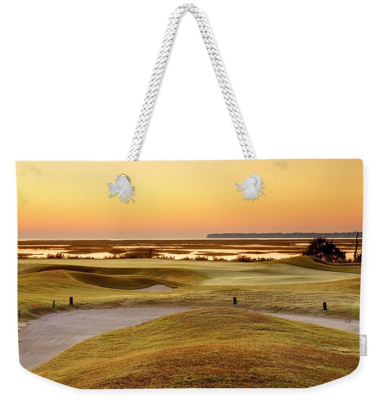 Beaufort County Weekender Tote Bag featuring the photograph View To Spain by Phill Doherty