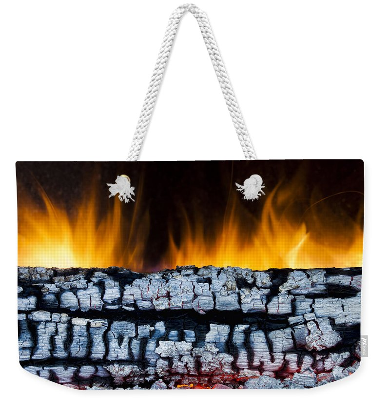 Ash Weekender Tote Bag featuring the photograph Views From The Fireplace by Marc Garrido