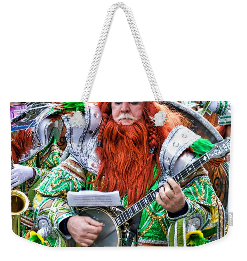 Mummer Weekender Tote Bag featuring the photograph Viking Mummer by Alice Gipson