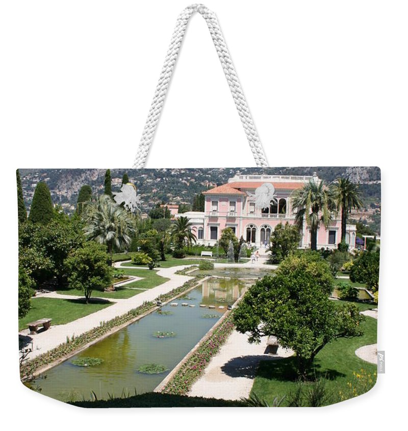 Villa Weekender Tote Bag featuring the photograph Villa Ephrussi De Rothschild And Garden by Christiane Schulze Art And Photography