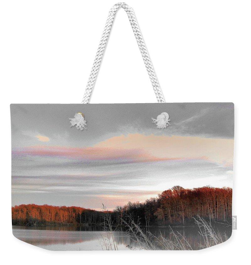 Village Creek State Park Weekender Tote Bag featuring the digital art Village Creek Ar Morning by Lizi Beard-Ward