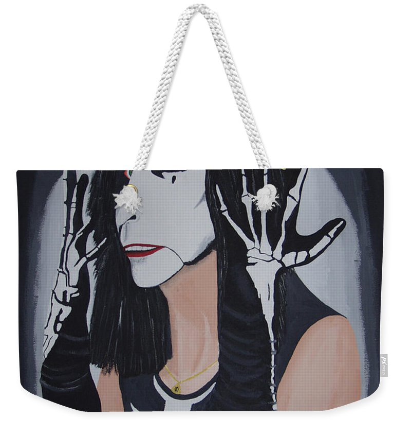 Crazy Weekender Tote Bag featuring the painting Vincent by Dean Stephens