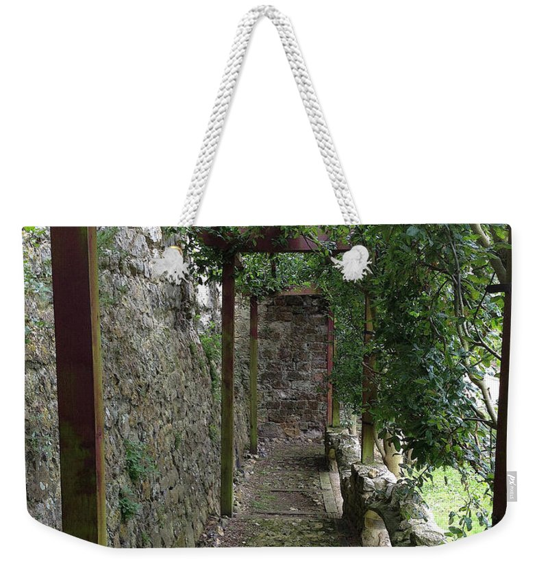 Photograph Weekender Tote Bag featuring the photograph Vine-covered Passage by Nicole Parks