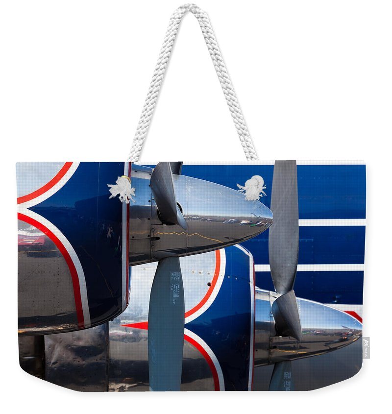 1930s Weekender Tote Bag featuring the photograph Vintage Airplane by Raul Rodriguez