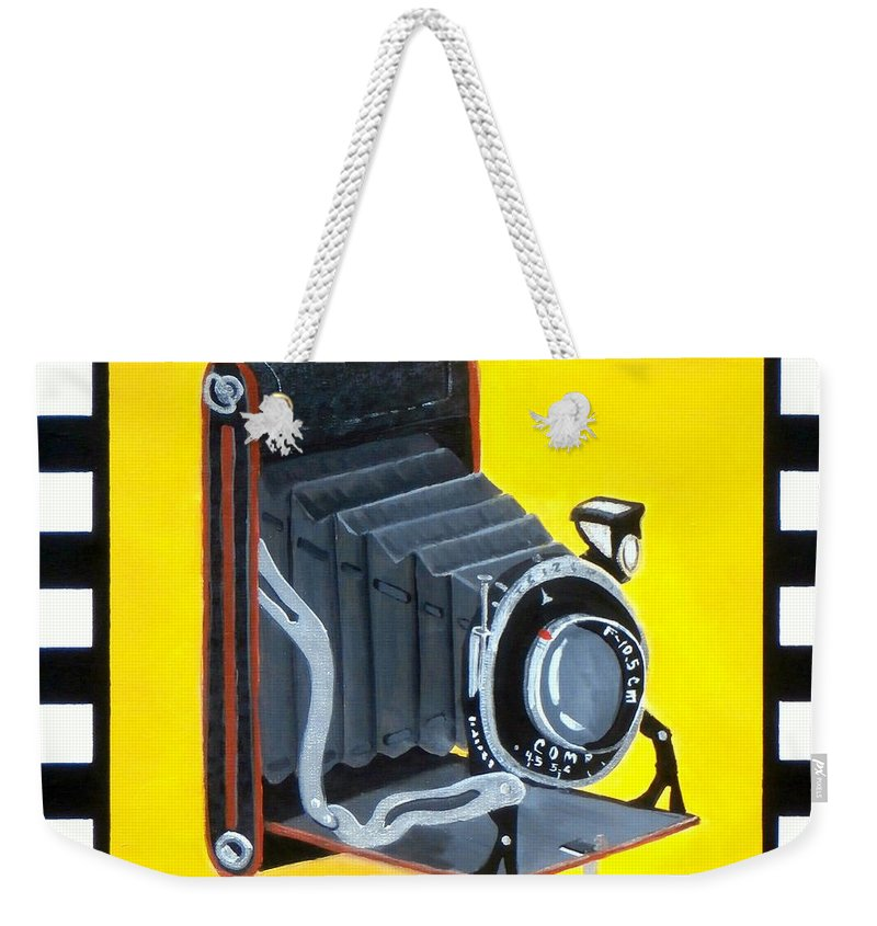 Camera Weekender Tote Bag featuring the painting Vintage Camera by Karyn Robinson
