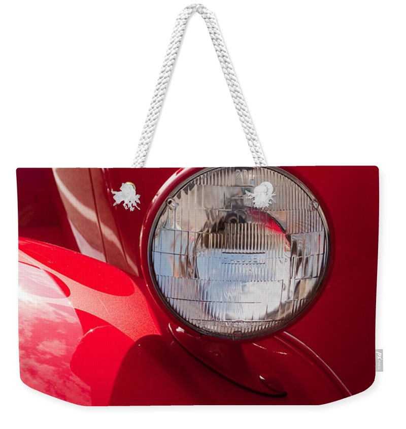 Car Weekender Tote Bag featuring the photograph Vintage Car Details 6298 by Brent L Ander