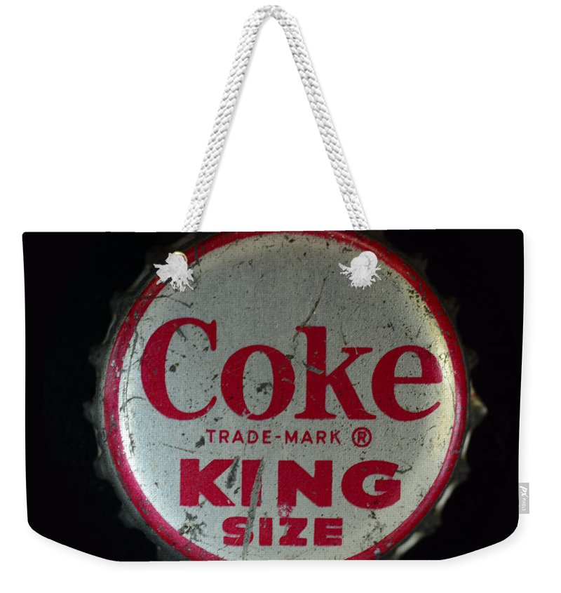 Paul Ward Weekender Tote Bag featuring the photograph Vintage Coca Cola Bottle Cap by Paul Ward