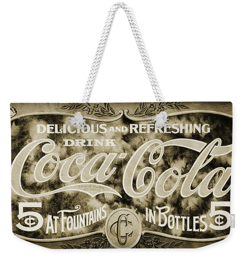 Coke Weekender Tote Bag featuring the photograph Vintage Coke by Ricky Barnard