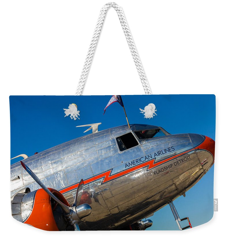 1930s Weekender Tote Bag featuring the photograph Vintage Dc-3 Airplane by Raul Rodriguez