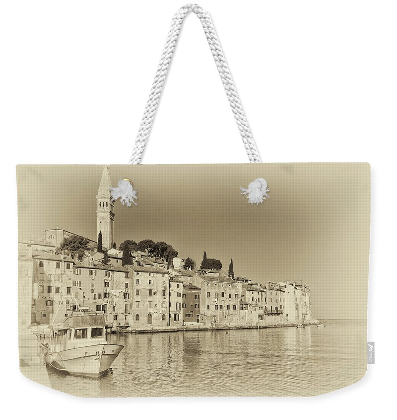 Adriatic Weekender Tote Bag featuring the photograph Vintage Harbor by Jaroslav Frank