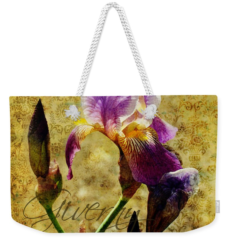 Iris Weekender Tote Bag featuring the photograph Vintage Iris by Carla Parris