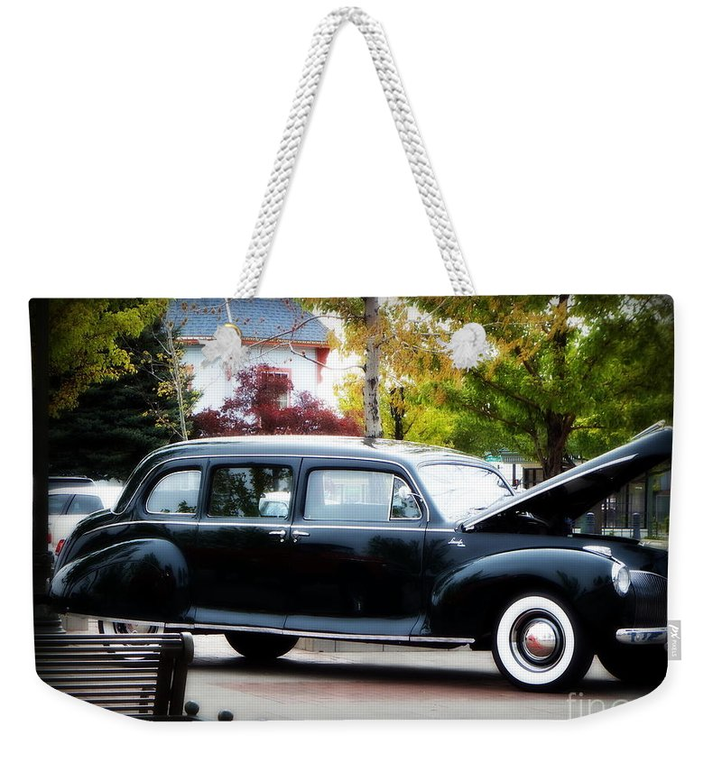 Acrylic Prints Weekender Tote Bag featuring the photograph Vintage Lincoln Limo II by Bobbee Rickard