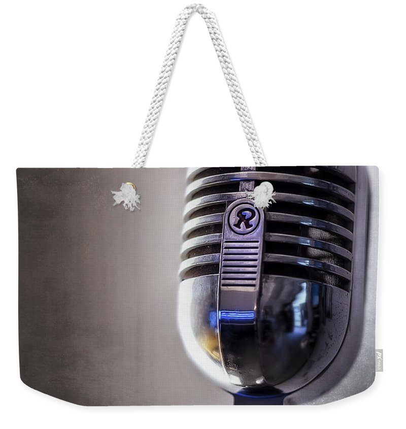 Mic Weekender Tote Bag featuring the photograph Vintage Microphone 2 by Scott Norris