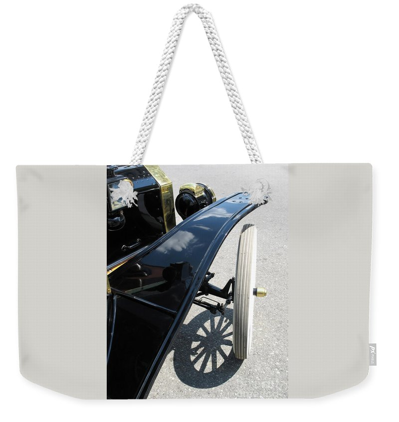 Model T Weekender Tote Bag featuring the photograph Vintage Model T by Ann Horn