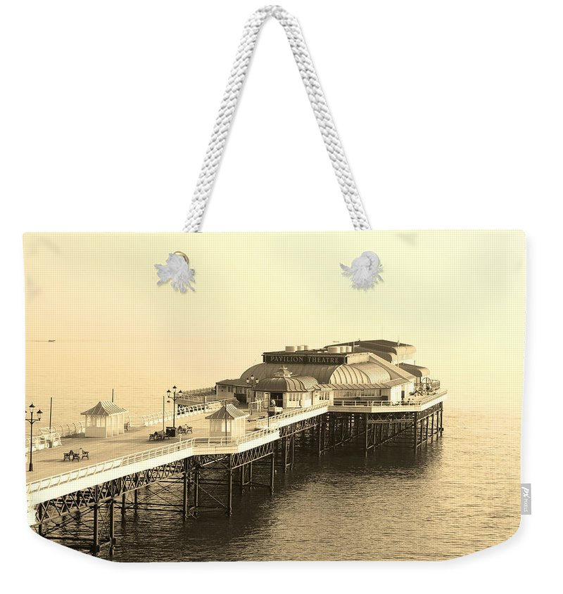 Pier Weekender Tote Bag featuring the photograph Vintage Pier At Dawn by Andy Readman