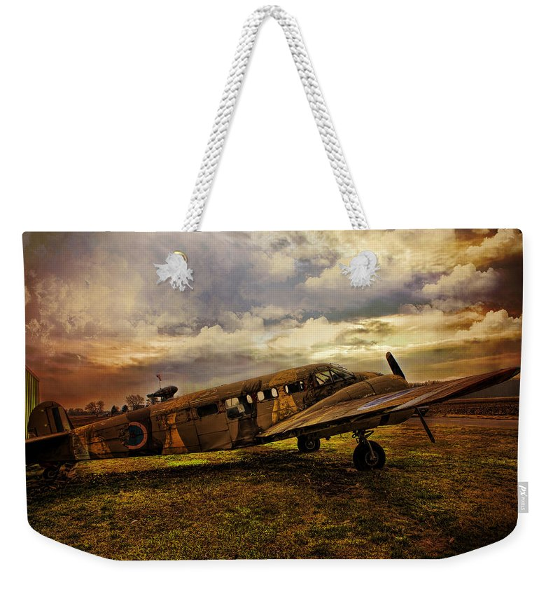 Aeroplane Weekender Tote Bag featuring the photograph Vintage Plane by Evie Carrier