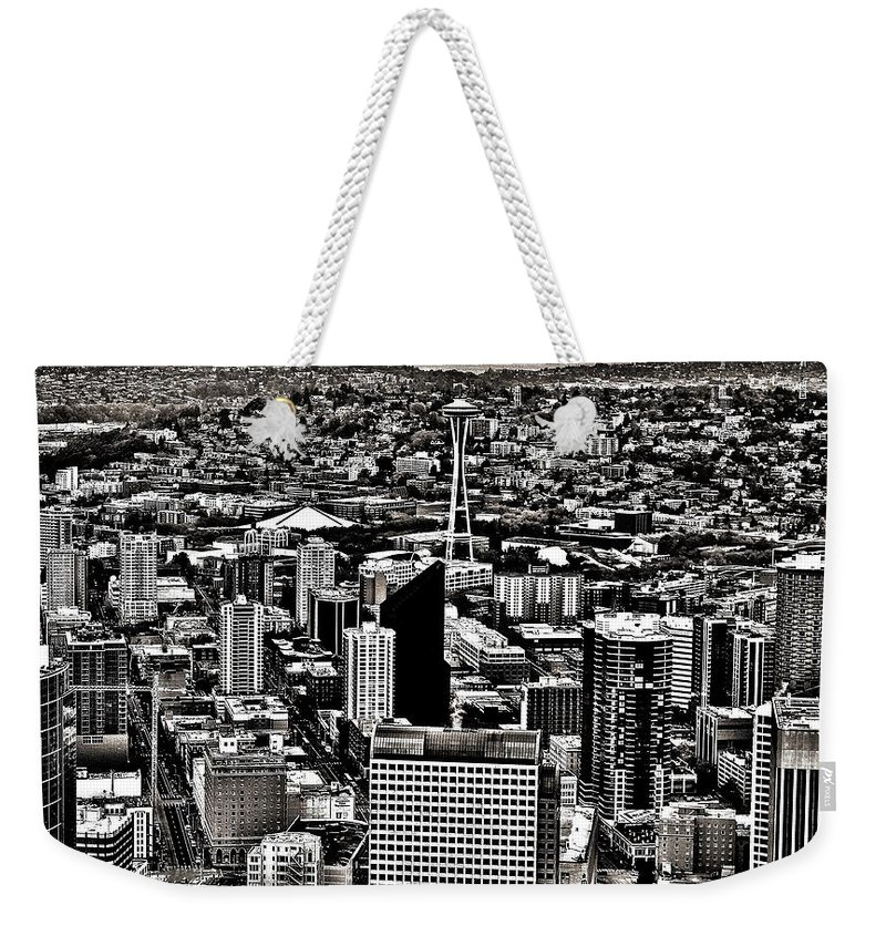 Seattle Weekender Tote Bag featuring the photograph Vintage Seattle by Benjamin Yeager