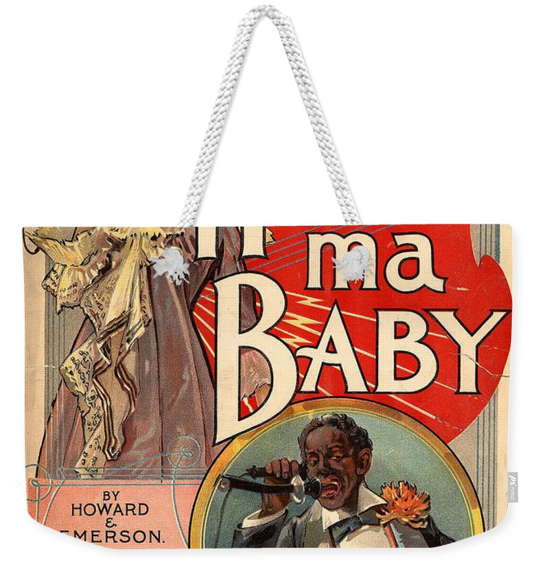 Vintage Sheet Music Cover Circa 1900 Weekender Tote Bag featuring the digital art Vintage Sheet Music Cover Circa 1900 by New York Sunday Press