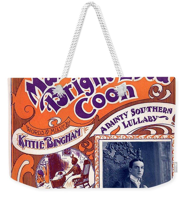 Vintage Sheet Music Cover Weekender Tote Bag featuring the digital art Vintage Sheet Music Cover by Studio Artist