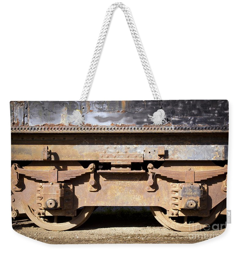 Locomotive Weekender Tote Bag featuring the photograph Vintage Train by Tim Hester