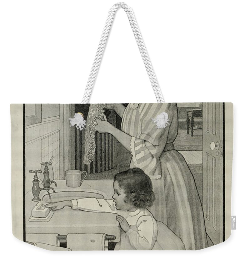 Ad Weekender Tote Bag featuring the photograph Vintage Victorian Soap Advert by Georgia Fowler