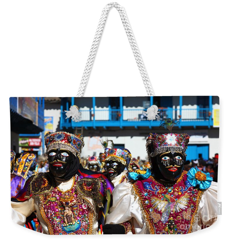 Peru Weekender Tote Bag featuring the photograph Virgen Del Carmen Festival Paucartambo by James Brunker