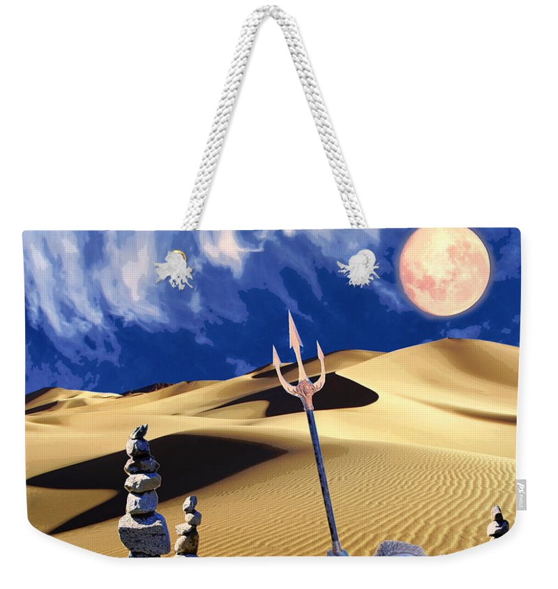 Desert Weekender Tote Bag featuring the mixed media Vision Quest by Dominic Piperata
