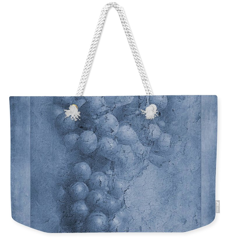 Vitis Vinifera Weekender Tote Bag featuring the photograph Vitis Cyanotype by John Edwards