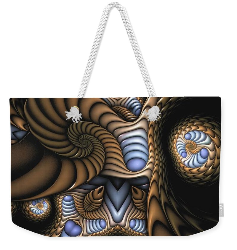 Abstract Weekender Tote Bag featuring the digital art Vitreous Inanity by Casey Kotas