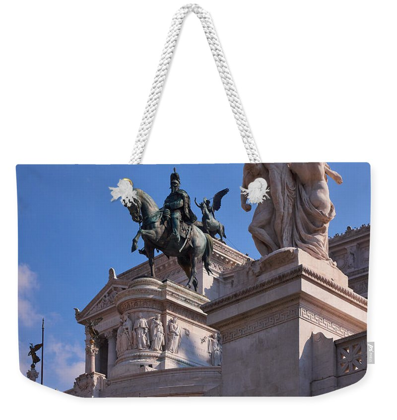 2013. Weekender Tote Bag featuring the photograph Vittorio Emanuelle by Jouko Lehto