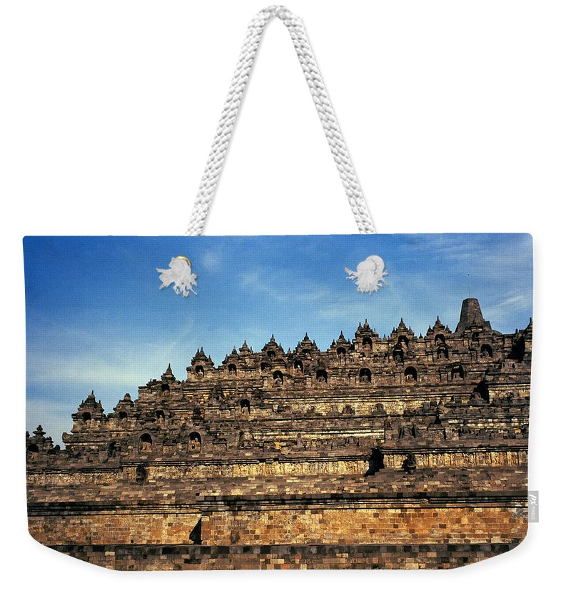 Borobudur Weekender Tote Bag featuring the photograph Vivid Borobudur by Shaun Higson