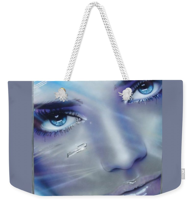 Portrait Weekender Tote Bag featuring the painting Vogue by Christian Chapman Art