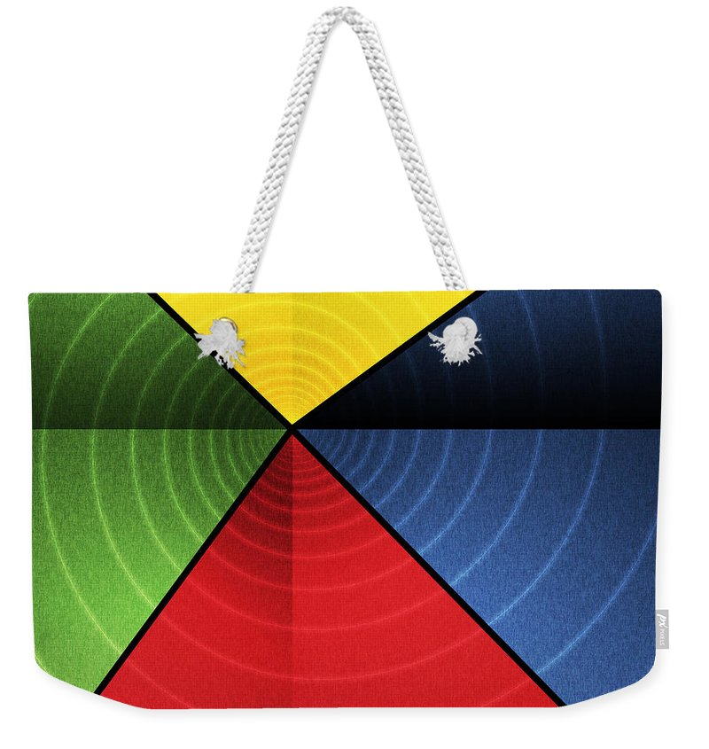 Abstract Weekender Tote Bag featuring the digital art Vortex by James Kramer