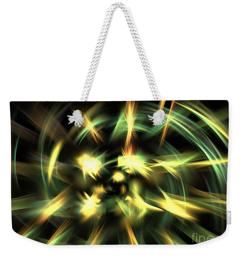 Apophysis Weekender Tote Bag featuring the digital art Vortical Flow by Kim Sy Ok