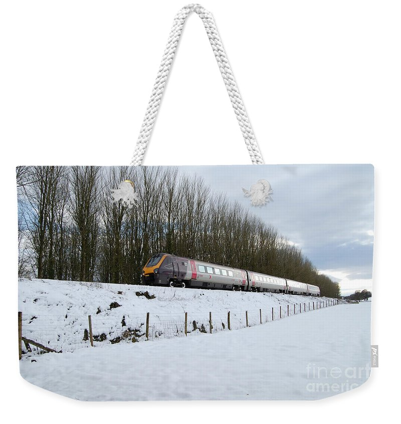 Wellington Weekender Tote Bag featuring the photograph Voyager On Wellington Bank by Rob Hawkins