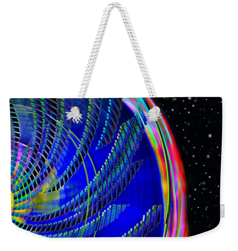 Fun On Planet X Weekender Tote Bag featuring the painting Fun On Planet X by David Lee Thompson