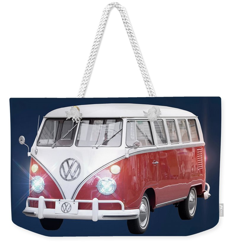Vw Bus Weekender Tote Bag featuring the photograph Vw Bus by Carlos Diaz