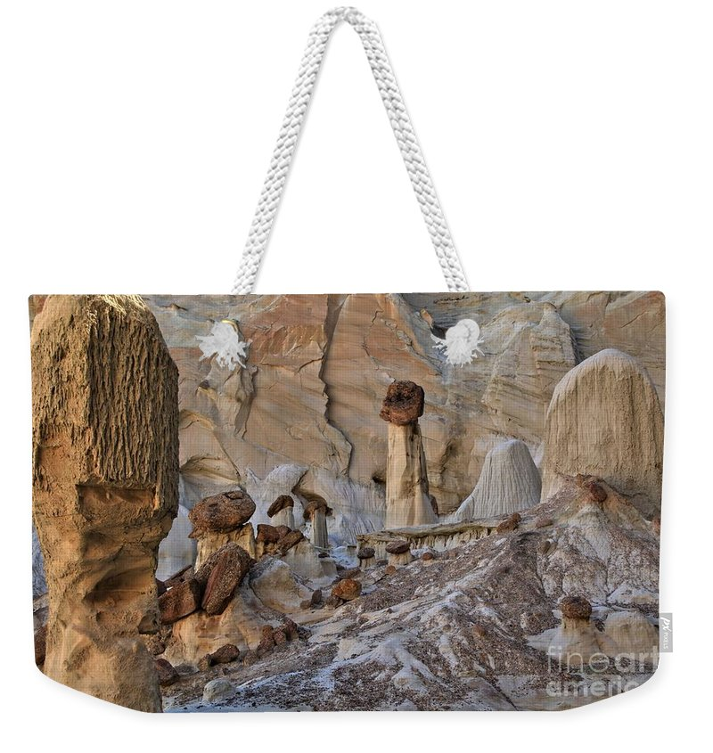 Wahweap Hoodos Weekender Tote Bag featuring the photograph Wahweap Guardian by Adam Jewell