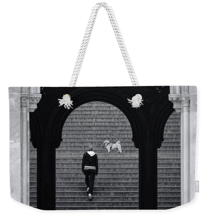 Central Park Weekender Tote Bag featuring the photograph Wait For Me by Jean-Pierre Ducondi