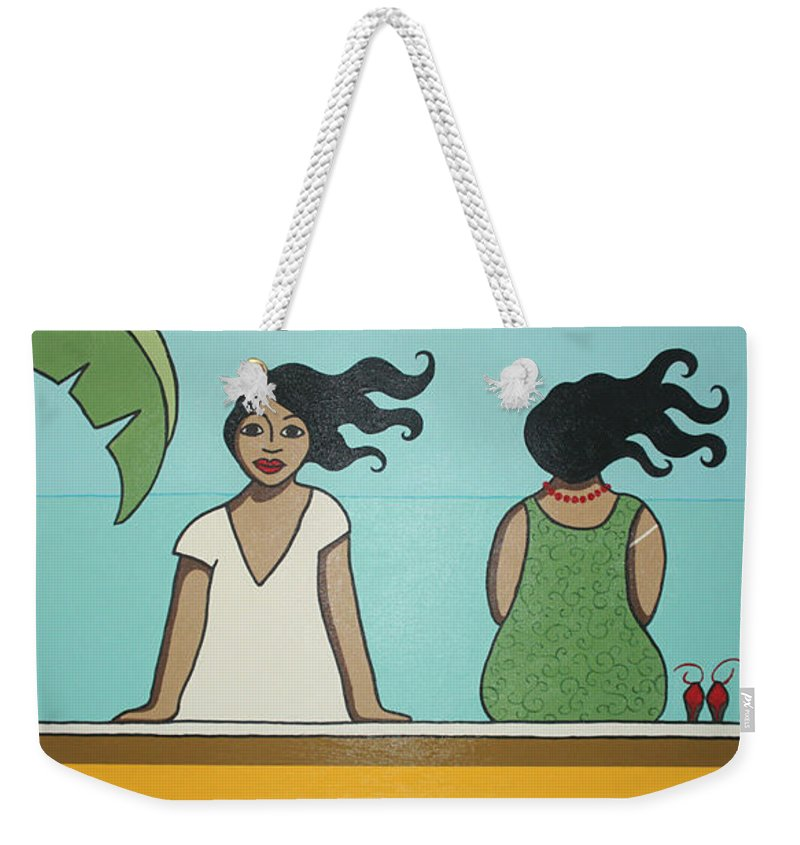 Women Weekender Tote Bag featuring the painting Waiting 2 by Trudie Canwood