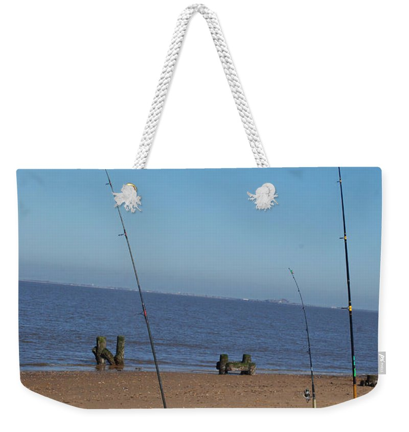 Fish Weekender Tote Bag featuring the photograph Waiting For A Catch by Richard Bryce and Family