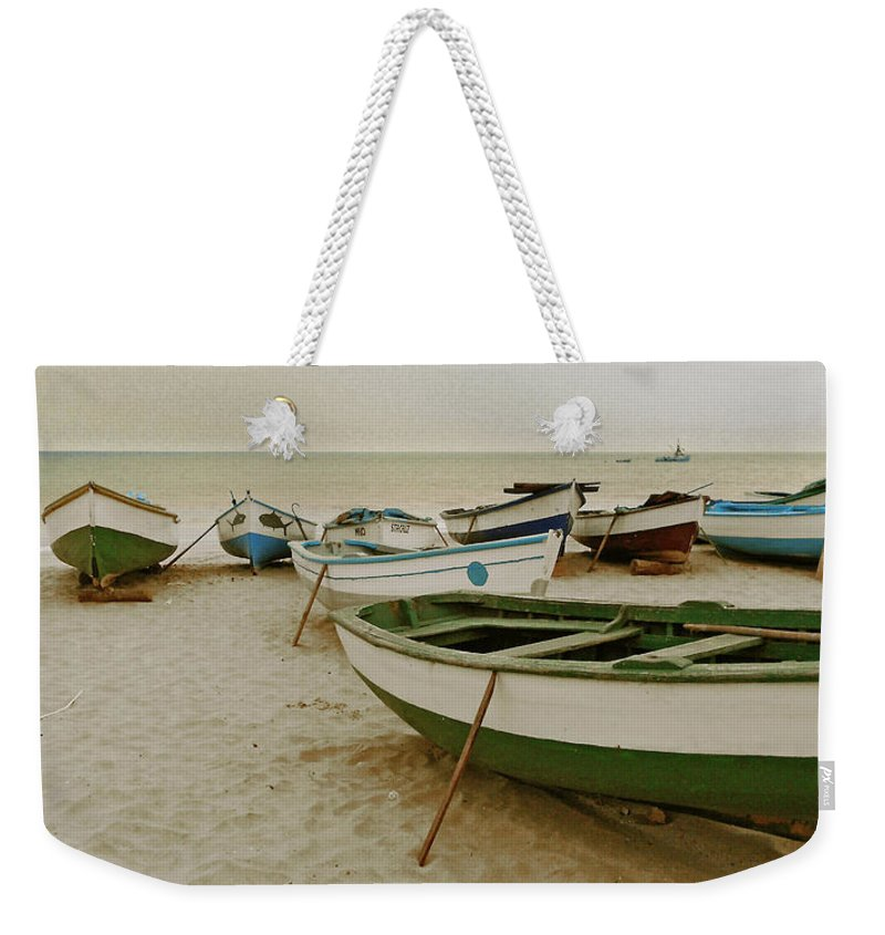 Cape Verde Weekender Tote Bag featuring the photograph Waiting For Morning			 by Julia Raddatz