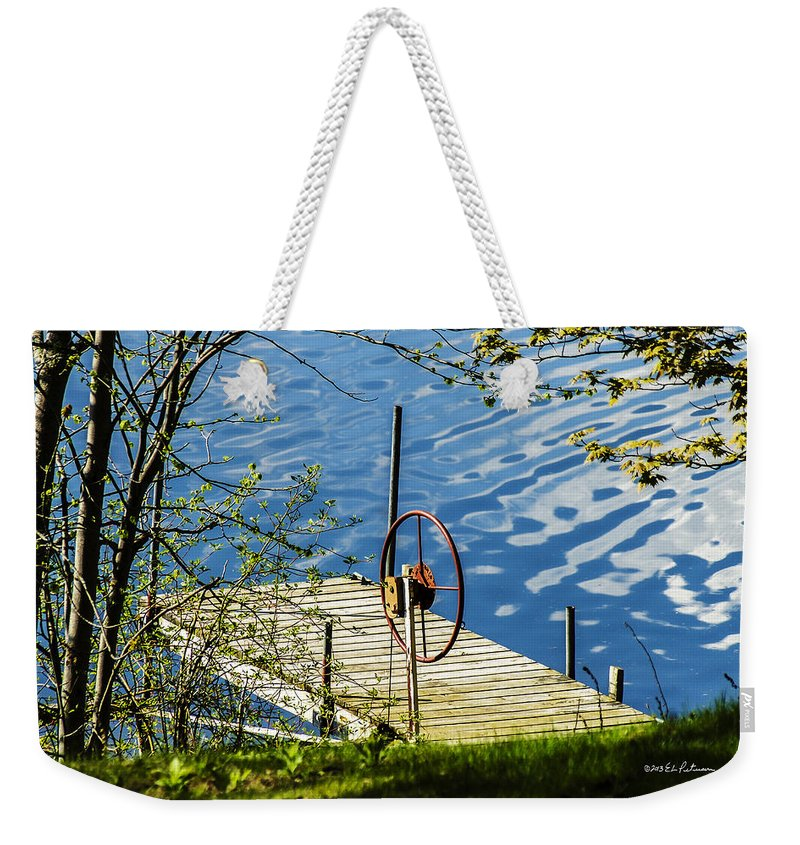 Lake Weekender Tote Bag featuring the photograph Waiting For The Return by Edward Peterson