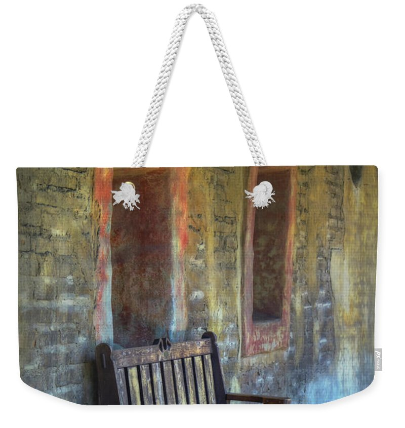Joan Carroll Weekender Tote Bag featuring the photograph Waiting by Joan Carroll