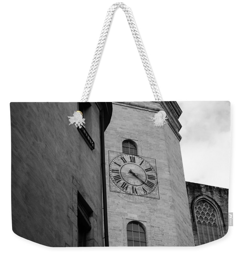 Church Clock Weekender Tote Bag featuring the photograph Waiting On You by Mair Hunt