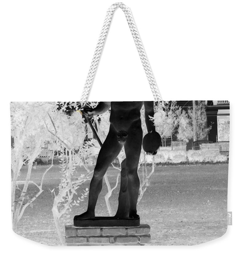 Greek Weekender Tote Bag featuring the photograph Waiting To Throw by John W Smith III