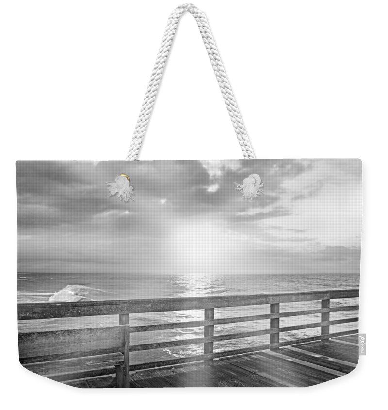 Topsail Weekender Tote Bag featuring the photograph Waking Coast by Betsy Knapp