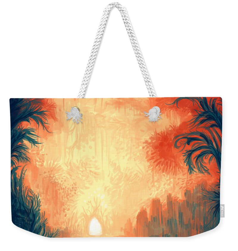 Outdoors Weekender Tote Bag featuring the digital art Walk Away by Illustrations By Annemarie Rysz